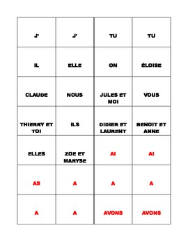 French Passe Compose Conjugation Squares