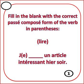 French Passé Composé - Être ou Avoir - Task Cards