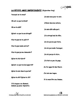French Passé Composé - French Rap-like Musical Chant with Exercises and Mp3