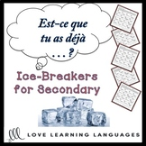 French Passé Composé Ice Breaker Find Someone Who Activity