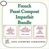 French Passé Composé - Imparfait - Task Cards Bundle