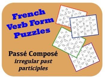 French Passe Compose (Irregular Past Participles) Puzzle Activity