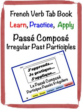French Passé Composé (Irregular Past Participles) Tab Book