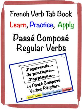 French Passé Composé (Regular Verbs) Tab Book