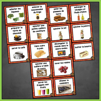French Passé Composé Speaking Activities, Grand Chef, French Foods