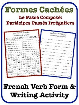 French Passé Composé Writing Activity (Irregular Past Part