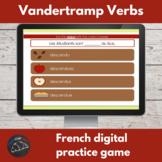 French Passé Composé digital game - Vandertramp verbs