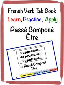 French Passé Composé (être) Tab Book