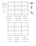 French Passe Compose with Avoir Activities - Magic Squares