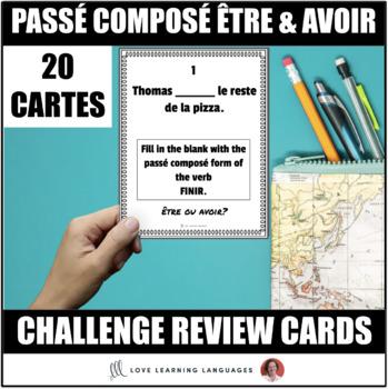 French Passé Composé with Être and Avoir Task Cards - Cartes à tâches