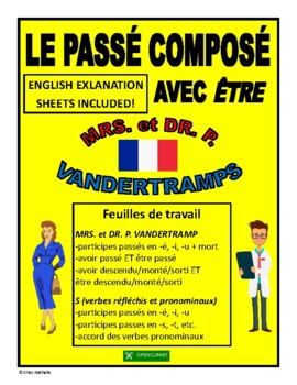 """French Past Tense with """"être"""" (English + French Explanations)"""