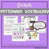 French Patterning Math word wall vocabulary