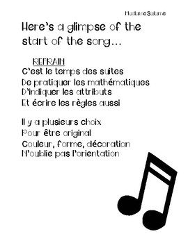 French Patterning Song