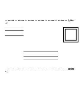 French Pen Pal Letter Writing Template (Ami de correspondance)