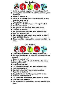 French Teaching Resources: Perfect Tense Role Play