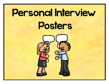 French Personal Interview Posters