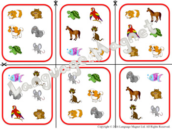 French Pets Bingo Game