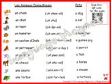 French Pets Audio Vocabulary Sheet