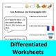 French Pets Worksheets (Les Animaux de Compagnie)