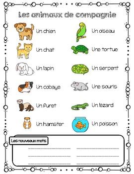 French Pets unit - Les animaux de compagnie