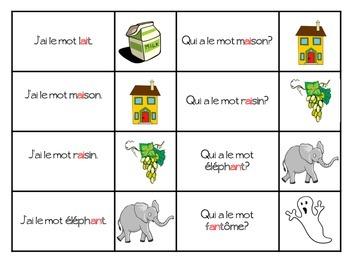 French Phonetics- J'ai, Qui a game - Les Sons