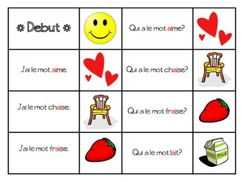 French Phonetics- J'ai, Qui a game - Les Sons