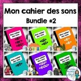 French Phonics Activities Bundle #2:  Mon cahier des sons