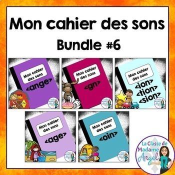 French Phonics Activities Bundle #6:  Mon cahier des sons