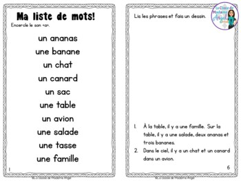French Phonics Activities: Mon cahier des sons {a}