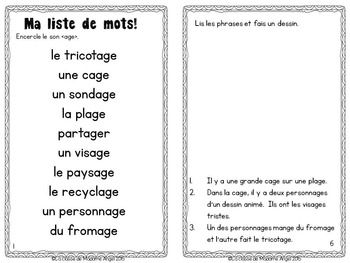 French Phonics Activities: Mon cahier des sons {age}