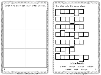 French Phonics Activities: Mon cahier des sons {ange}