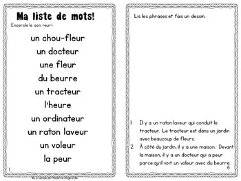 French Phonics Activities: Mon cahier des sons {eur}