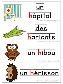 French Phonics Activities: Mon cahier des sons {h}