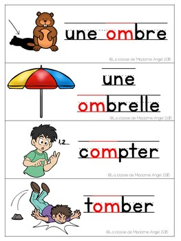 French Phonics Activities: Mon cahier des sons {om} FREEBIE