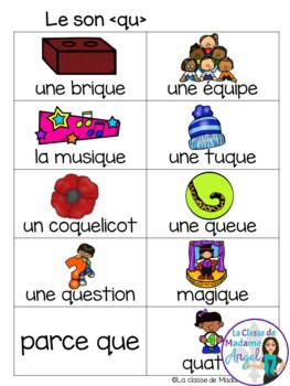 French Phonics Activities: Mon cahier des sons {qu}