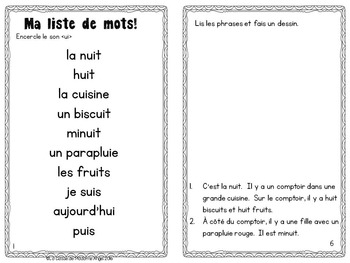 French Phonics Activities: Mon cahier des sons {ui}