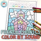 French Phonics Back-to-school Worksheets Color by Sound | La Rentrée