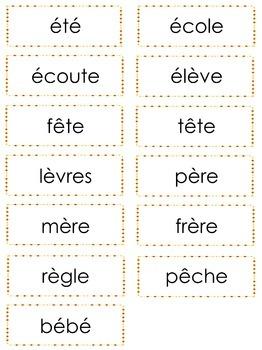 French Phonics Bingo: Le Bingo des sons: É-È-Ê