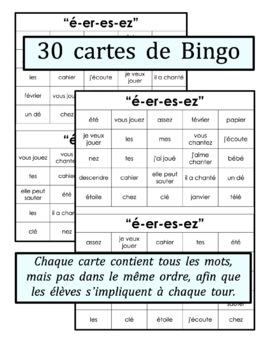 French Phonics Bingo: Le Bingo des sons: É-ER-ES-EZ