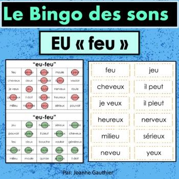 French Phonics Bingo: Le Bingo des sons: EU - feu