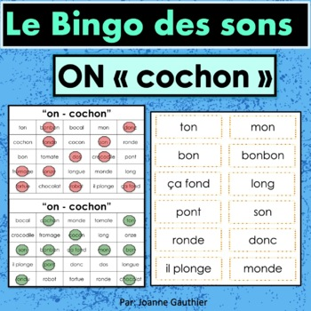 French Phonics Bingo: Le Bingo des sons: ON-Cochon
