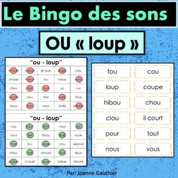 French Phonics Bingo: Le Bingo des sons: OU-Loup