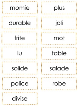French Phonics Bingo: Mixed Short Vowels/Le Bingo des sons: voyelles simples
