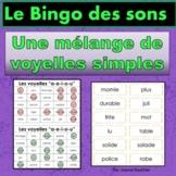 French Phonics Bingo: Mixed Short Vowels/Le Bingo des sons: voyelles simples