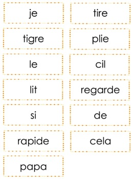 French Phonics Bingo: Short Ii/Le Bingo des sons: voyelle simple Ii