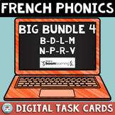French Phonics Digital BIG Bundle 4: sounds B D L M N P R V | French BOOM Cards