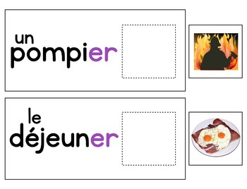 French Phonics Interactive Activities - é, ez, eil, er, ai - phonétique