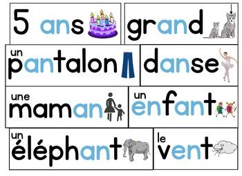 French Phonics Interactive Activities - en, an, em, am - phonétique