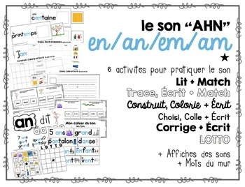 French Phonics Interactive Activities - en, an, em, am - p