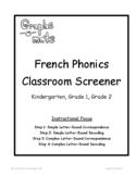 Graphs-o-Mots French Phonics Intervention - Placement Tests